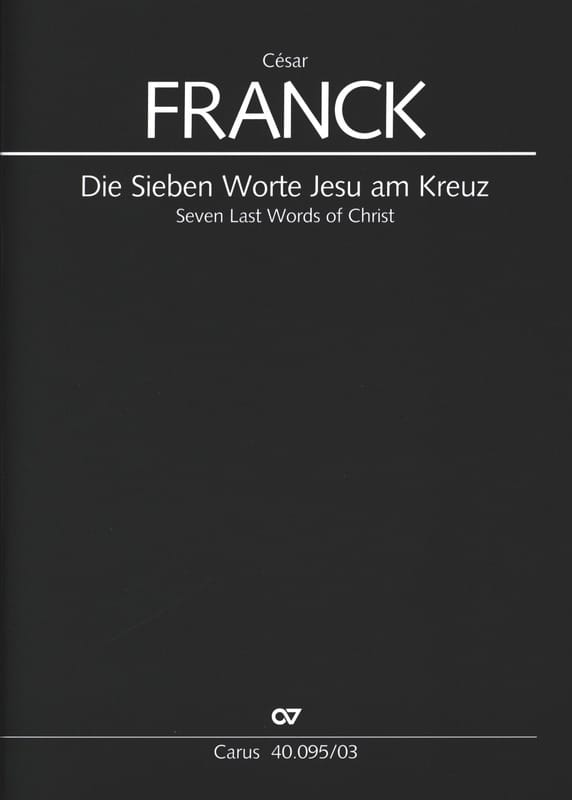 Les 7 Paroles Du Christ En Croix. - FRANCK - laflutedepan.com