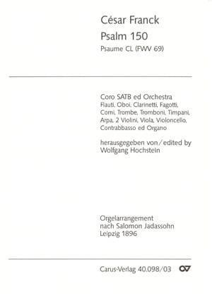 César Franck - Psalm 150 Fwv 69 - Partition - di-arezzo.co.uk