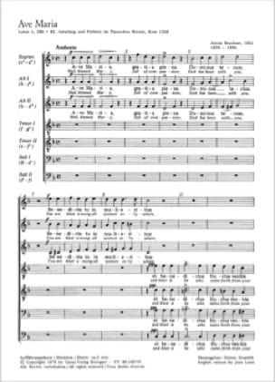 Ave Maria a 7 voci - BRUCKNER - Partition - Chœur - laflutedepan.com