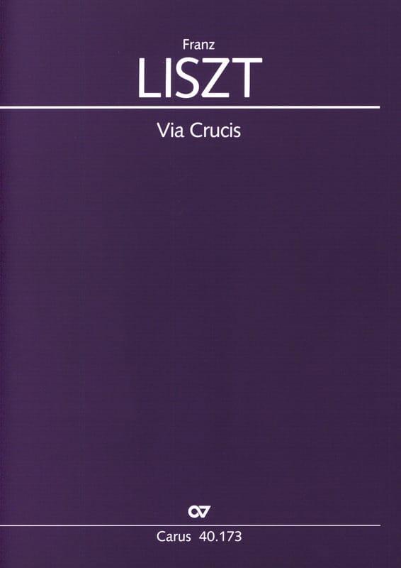 Franz Liszt - Via Crucis - Partition - di-arezzo.fr