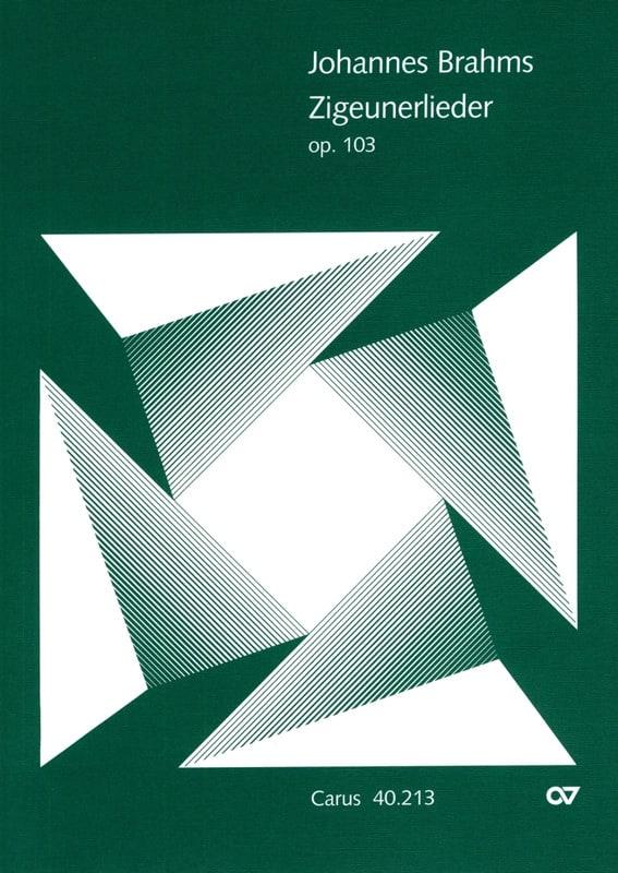 BRAHMS - Zigeunerlieder Opus 103 - Partition - di-arezzo.co.uk