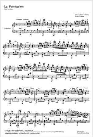 Gioachino Rossini - La Passeggiata - Partition - di-arezzo.fr