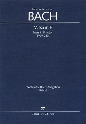 Missa F-Dur BWV 233 - BACH - Partition - Chœur - laflutedepan.com