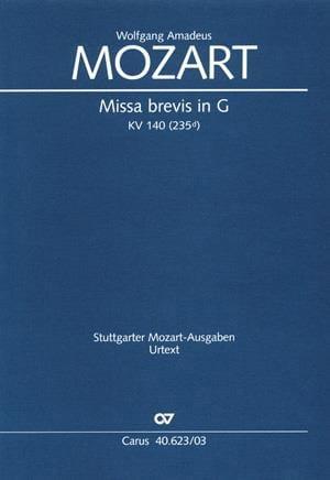 Missa Brevis KV 140 235d - MOZART - Partition - laflutedepan.com