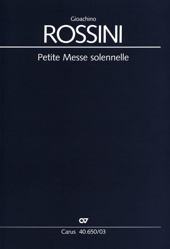 Gioachino Rossini - Small Solemn Mass - Partition - di-arezzo.co.uk