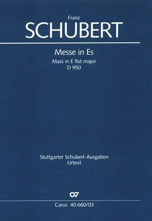 SCHUBERT - Mass in E flat Major - D 950 - Partition - di-arezzo.co.uk