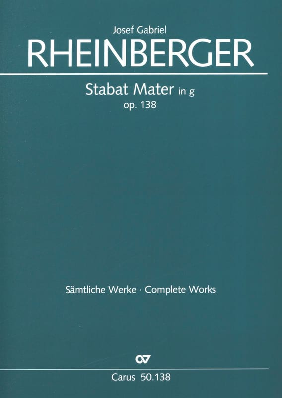 Stabat Mater en Sol Mineur Opus 138 - RHEINBERGER - laflutedepan.com