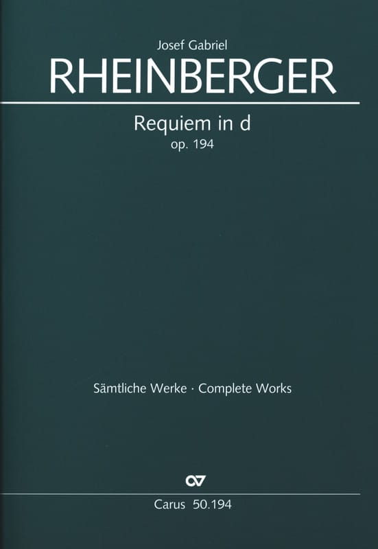 Requiem En Ré Mineur Opus 194 - RHEINBERGER - laflutedepan.com