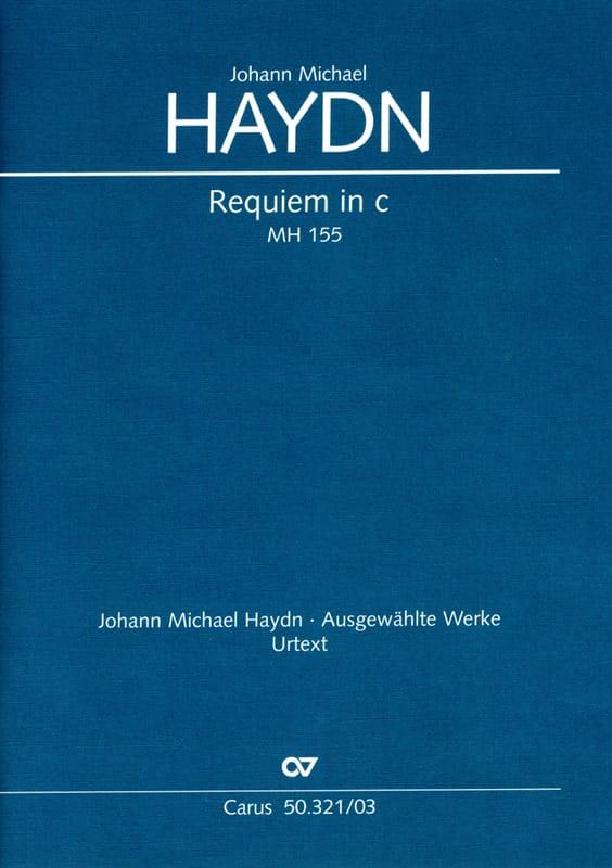 Requiem En Ut Mineur Mh 155 - Michael HAYDN - laflutedepan.com