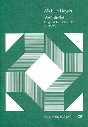 4 Stücke - Michael HAYDN - Partition - Chœur - laflutedepan.com