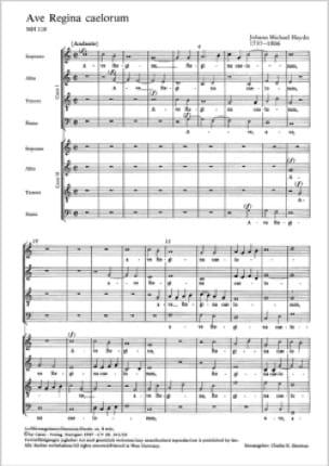 Ave Regina - Michael HAYDN - Partition - Chœur - laflutedepan.com