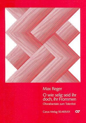 O wie selig seid ihr doch - Max Reger - Partition - laflutedepan.com