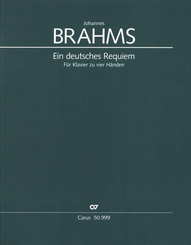 BRAHMS - Ein Deutsches Requiem Opus 45. 4 Hands - Partition - di-arezzo.co.uk