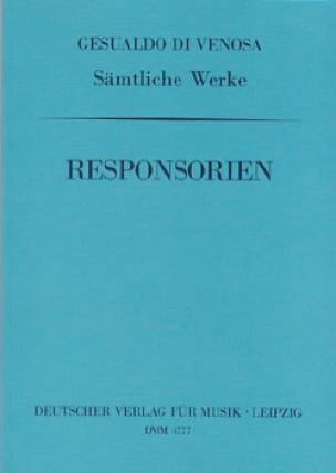 Responsorien - Carlo Gesualdo - Partition - Chœur - laflutedepan.com
