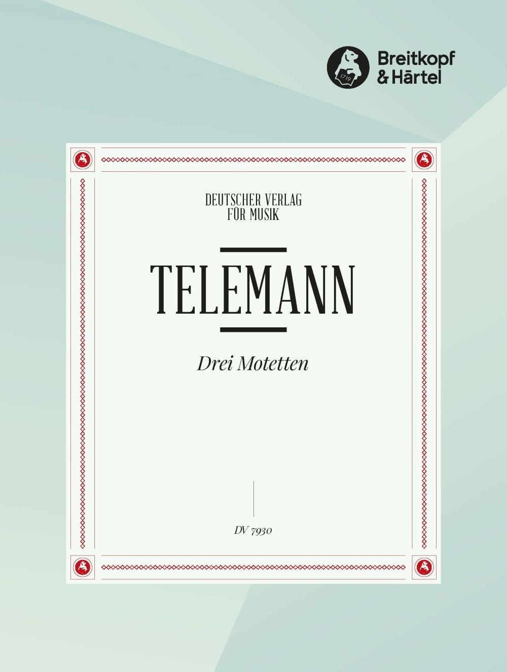 3 Motetten - TELEMANN - Partition - Chœur - laflutedepan.com