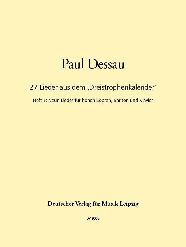 27 Lieder 3-Strophenkalender - Volume 1 - laflutedepan.com