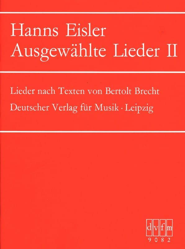 Ausgewählte Lieder 2 - Hanns Eisler - Partition - laflutedepan.com