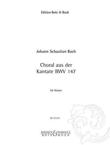 Choralvorspiel : Jesus Bleibet Meine Freude - laflutedepan.com