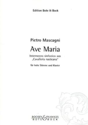 Ave Maria. Voix Haute - Pietro Mascagni - Partition - laflutedepan.com