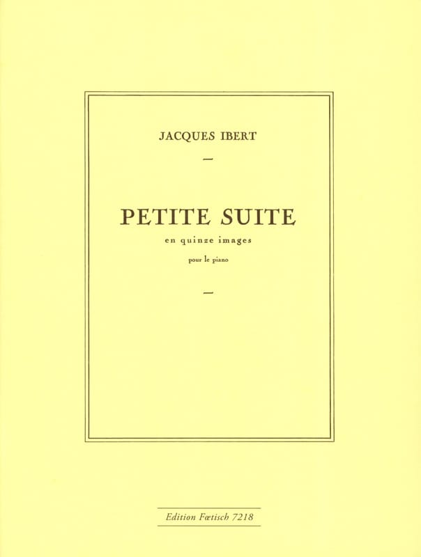 Jacques Ibert - Small suite in 15 images - Partition - di-arezzo.co.uk