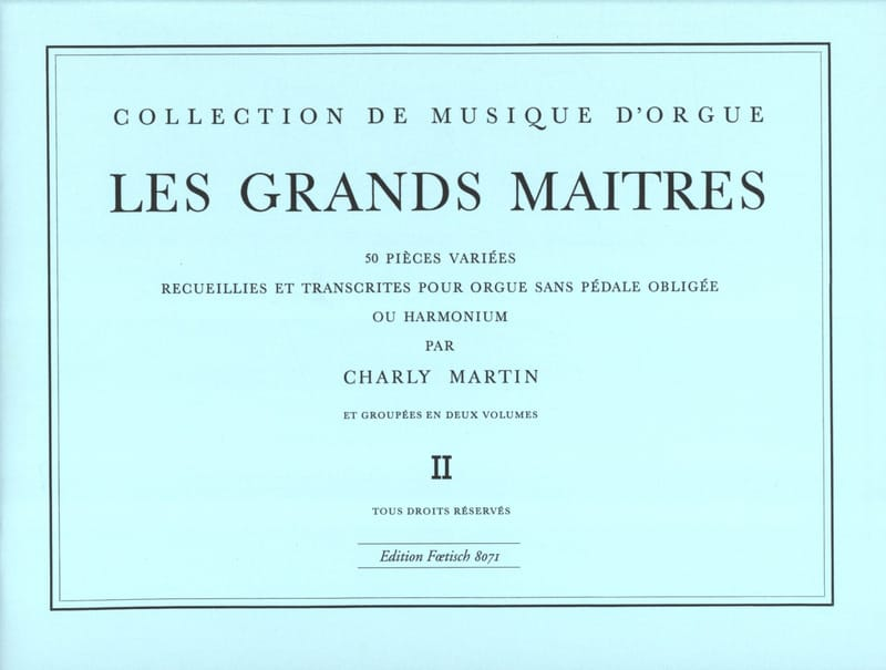 Les Grands Maitres Volume 2 - Partition - Orgue - laflutedepan.com