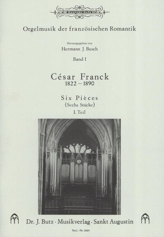 6 Pièces. Volume 1 - FRANCK - Partition - Orgue - laflutedepan.com