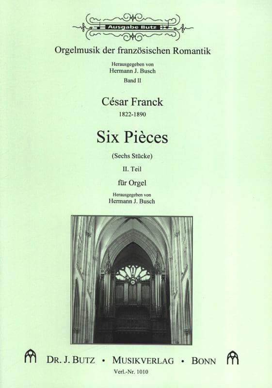 6 Pièces. Volume 2 - FRANCK - Partition - Orgue - laflutedepan.com