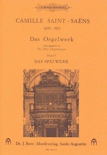 Camille Saint-Saëns - Organ Work Volume 5 - Partition - di-arezzo.com