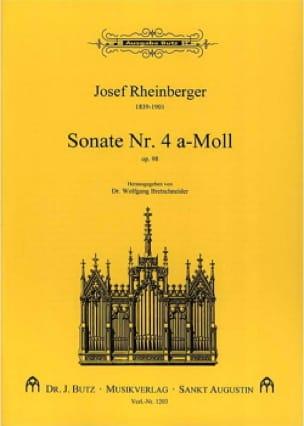 Sonate N° 4 Op. 98 - RHEINBERGER - Partition - laflutedepan.com