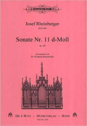 Sonate N° 11 Op. 148 - RHEINBERGER - Partition - laflutedepan.com