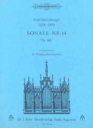 Sonate N° 14 Op. 165 - RHEINBERGER - Partition - laflutedepan.com