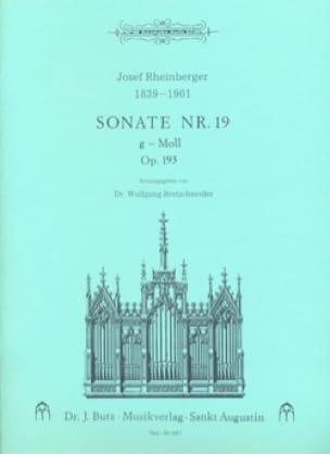Sonate N° 19 Op. 193 - RHEINBERGER - Partition - laflutedepan.com