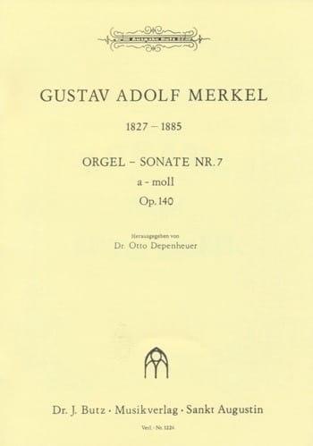Sonate n°7 en la mineur Op. 140 - Gustav Merkel - laflutedepan.com