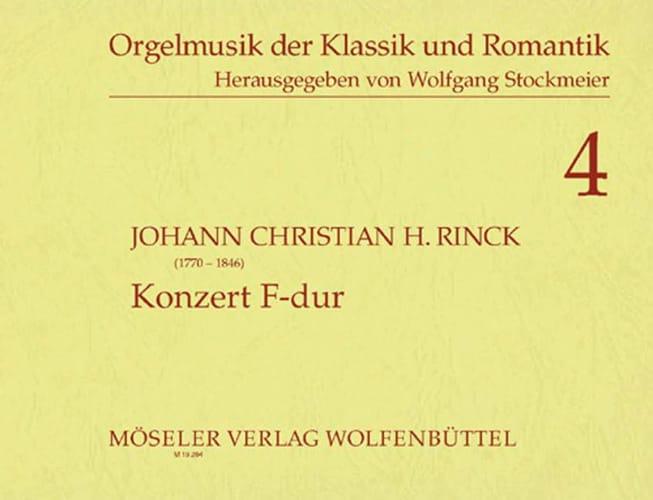 Konzert F-Dur - Johann Christian Heinrich Rinck - laflutedepan.com