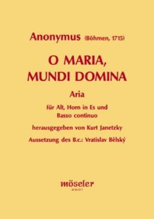 O Maria, mundi Domina - Partition - Cor - laflutedepan.com