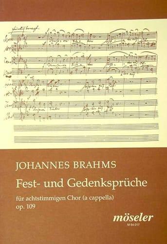 Fest- Und Gedenksprüche Op. 109 - BRAHMS - laflutedepan.com