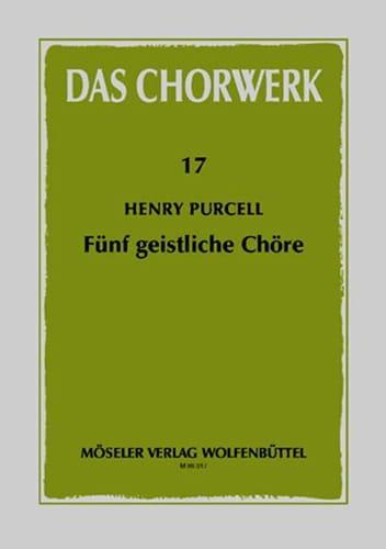 5 Geistliche Chöre - PURCELL - Partition - Chœur - laflutedepan.com