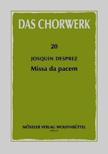 Josquin Després - Missa Da pacem - Partition - di-arezzo.co.uk