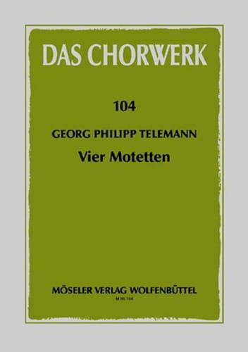 4 Motetten - TELEMANN - Partition - Chœur - laflutedepan.com