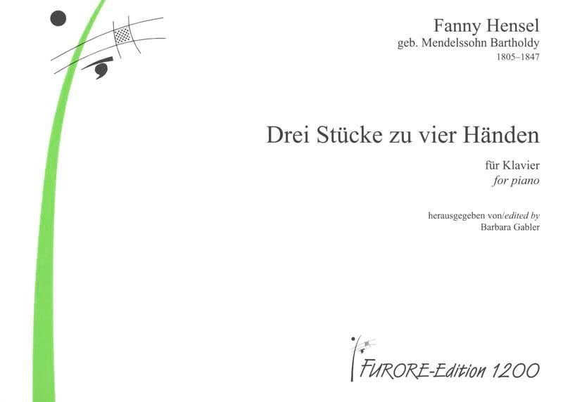 3 Stücke. 4 Mains - Fanny Hensel-Mendelssohn - laflutedepan.com