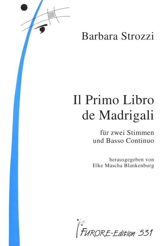 Il Primo Libro de Madrigali - Barbara Strozzi - laflutedepan.com