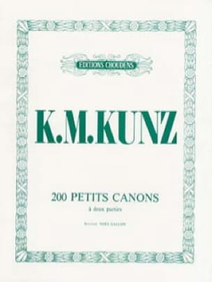 200 Petits Canons Opus 14 - K.M. Kunz - Partition - laflutedepan.com