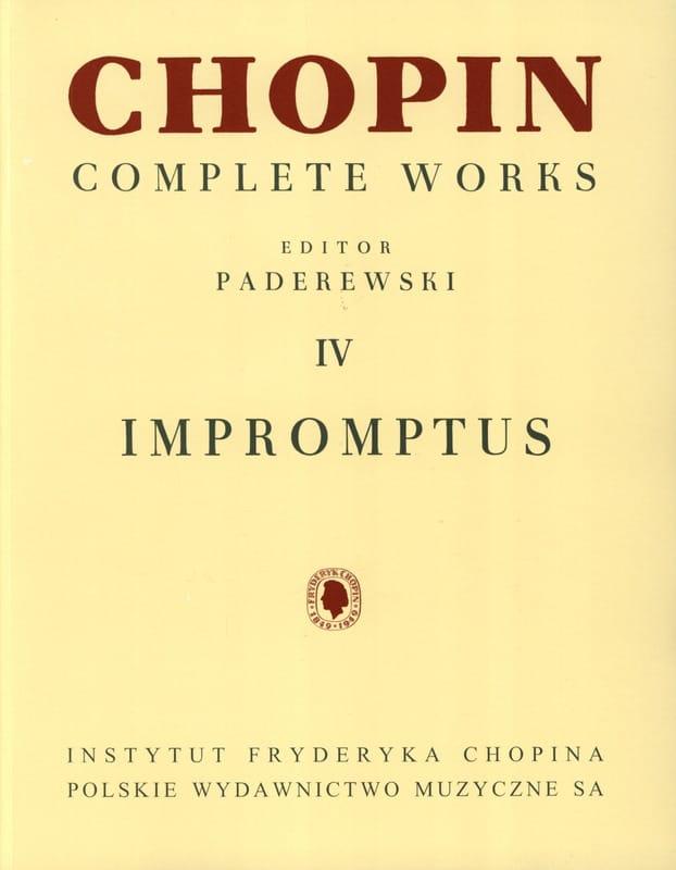 Impromptus - CHOPIN - Partition - Piano - laflutedepan.com