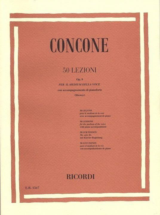 Giuseppe Concone - 50 Lezioni Opus 9 - Partition - di-arezzo.co.uk