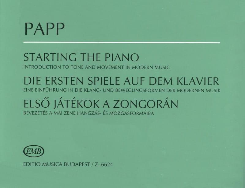 Lajos Papp - Starting The Piano - Partition - di-arezzo.com