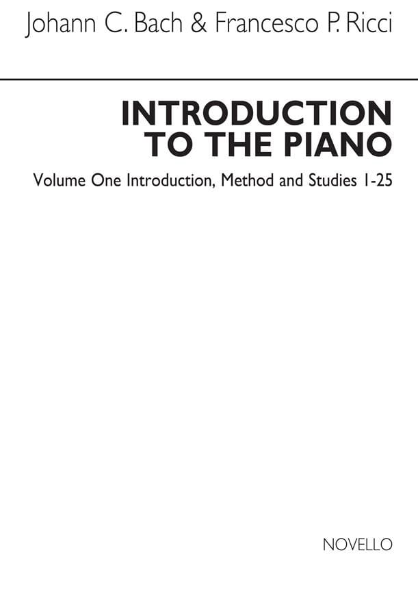 Bach JC / Ricci - Introduction To The Piano Volume 1 - Partition - di-arezzo.co.uk