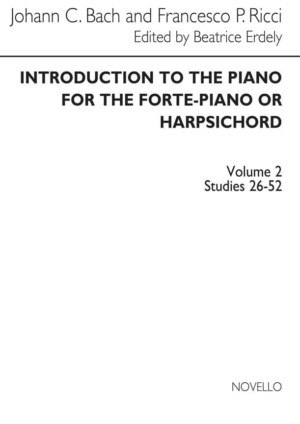 Bach JC / Ricci - Introduction To The Piano Volume 2 - Partition - di-arezzo.co.uk
