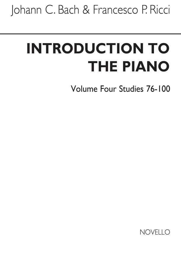 Bach JC / Ricci - Introduction To The Piano Volume 4 - Partition - di-arezzo.co.uk