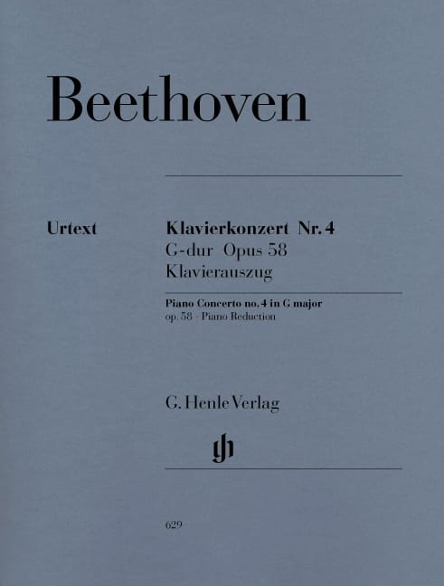 BEETHOVEN - Concierto para piano n.º 4 en sol mayor Opus 58 - Partition - di-arezzo.es