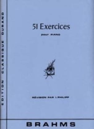51 Exercices - BRAHMS - Partition - Piano - laflutedepan.com